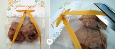 diy wedding favor treat bag with ribbon topper