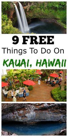 I love Kauai, Hawaii. I also love free stufff.especially in Hawaii! Here are 9 FREE things to do on Kauai, Hawaii. Hawaii Travel Tips. Eat, See, and Do on Kauai. Have a blast! Kauai Vacation, Hawaii Honeymoon, Vacation Destinations, Dream Vacations, Vacation Trips, Vacation Spots, Holiday Destinations, Hawaii Resorts, Vacation Deals
