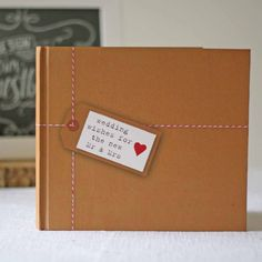 Rustic Wedding Guest Book Brown Paper Tied Up With String