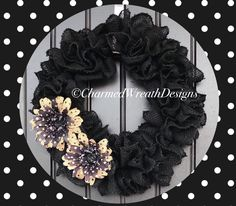 Excited to share this item from my shop: Modern Wreath For Front Door - Black Wreath For Front Door - Black Wreath - Modern Wreath Front Door Makeover, Front Door Decor, Wreaths For Front Door, Door Wreaths, Burlap Flower Wreaths, Black Wreath, Modern Wreath, Black Decor, Summer Wreath