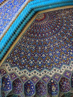 Mosque of Isfahan, Iran detail