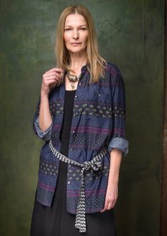 """""""Ingeborg"""" cotton/silk shirt – Shirts – GUDRUN SJÖDÉN – Webshop, mail order and boutiques 