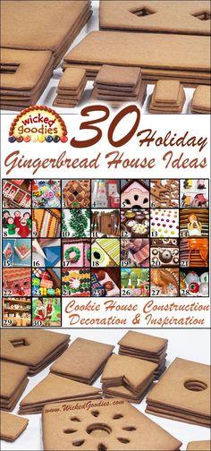 Wicked Goodies | 30 Gingerbread House Ideas | http://www.wickedgoodies.net