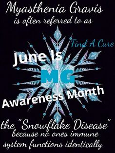 Found the picture and added the wording to it.not enough pictures to support myasthenia Gravis June awareness month