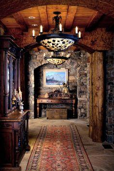 madame-bazaar:  Foyer in Elk View Lodge, WY.