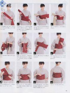 How to tie yukata obi