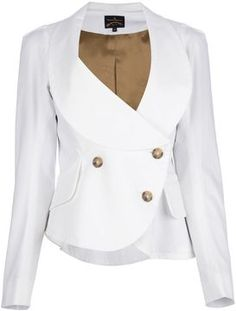 Rebecca Bloomwood's White Skirt Suit in Miami is Vivienne Westwood Anglomania 'Tempest'