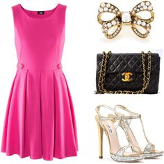 A fashion look from January 2012 featuring h&m dresses, high heels sandals and chanel purse. Browse and shop related looks. Classic Fashion, Work Fashion, Ladies Fashion, Fashion Outfits, Womens Fashion, Beautiful Shoes, Beautiful Outfits, Cute Outfits, Charlotte York