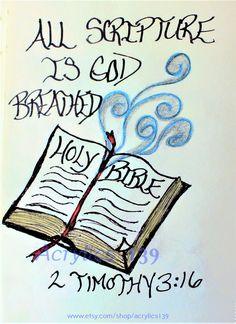 """""""All scripture is God-breath and useful for teaching, rebuking, correcting and training in righteousness."""" 2 Timothy (Scripture doodle of encouragement) Scripture Doodle, Bible Verse Art, Bible Verses Quotes, Bible Scriptures, Faith Quotes, Encouragement Scripture, Scripture Journal, Strong Quotes, Quotes Quotes"""