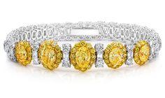 Cellini Jewelers ~ Fancy Yellow and Diamond Bracelet