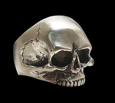 925 Solid Sterling Silver Keith Richards Skull Ring - ALL SIZES on Etsy, US$98,00