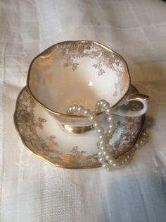 Roya Albert  tea cup and saucer by VintageSowles on Etsy