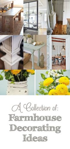 Here's a round-up of some of the latest and greatest farmhouse decorating tips and ideas! Love Grows Wild This is a great way to DIY your own farmhouse style bench.