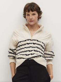 Cable Sweater, Cable Knit, Trouser Suits, Simply Vera, Knitting Designs, Trousers Women, Jumpers, Knits, Knitwear
