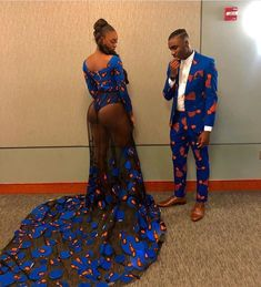 Last year saw a host of very revealing prom dresses from our African brothers and sisters in the US. African Wedding Attire, African Attire, African Wear, African Dress, African Prom Dresses, African Fashion Dresses, African Print Fashion, Africa Fashion, Suit Fashion