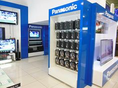 Panasonic The Digital Experience - Inside the shop new display units were installed and existing archways and units had blue vinyl and logos applied.
