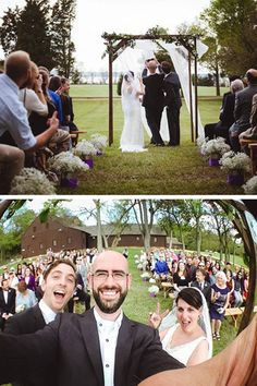 """When my close friends asked if I would officiate their wedding, it was a huge honor,"" says photographer William Petruzzo, who officiated his friends' Maryland ceremony on May 3, 2014. ""My favorite part...was the unique perspective on all the wedding energy that was happening around and through me. The bated breath between 'By the power invested in me...' and 'I now pronounce you husband and wife' has never felt so wonderfully tense and palpable."""