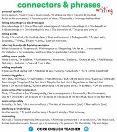 Hey guys, here are some useful linking words and phrases for writing. As this is quite hard to read on instagram you can download the PDF here  http://docdro.id/4a2UdNl ..... #writing #ielts #englishteacher #englishexam #toeic #toefl #firstcertificate #esl #efl #tefl
