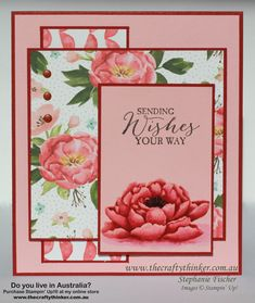 Stampin Up, #thecraftythinker, You've Got This, Watercolouring, Crazy Crafters Blog Hop