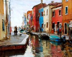 Dmitri Danish, 1966 ~ Venice Evening | Tutt'Art@ | Pittura * Scultura * Poesia * Musica |