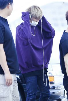 Bobby is so cute in purple