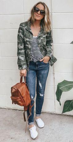 How to style camo for fall 2018 fall trend outfits on fleek moda, combinaci Fall Fashion Trends, Fall Trends, Autumn Fashion, Fashion 2018, Fashion Outfits, Fashion Tips, Fashion Ideas, Women's Fashion, Workwear Fashion