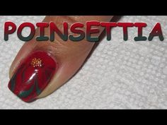 12 Days of Christmas, Day 10: Water Marble Poinsettia | Nail Art Tutorial - YouTube