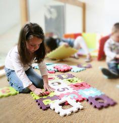 Dalles Lettres & Chiffres  #imagination #tapismousse #toys #kids #jouets