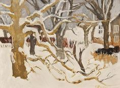 Winter Landscape (Snow) - Fairfield Porter 1958-61 American 1907-1975