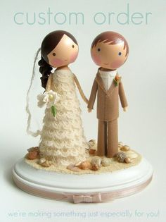 Custom wedding cake topper- too cute! :)