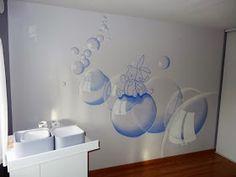 Peintures murales chambre sur pinterest - Chambre bebe peinture murale ...