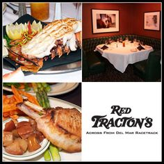 50% Off Fine Steak & Seafood Dining at Red Tracton's Steakhouse in Del Mar. Ten dollars gets you $20 for lunch, and $20 gets you $40 for dinner.