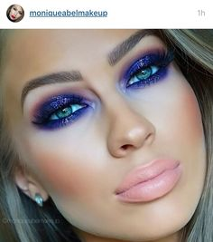 Beautiful purple eye makeup with subtle lips Contour Makeup, Makeup Art, Makeup Tips, Face Makeup, Makeup Ideas, Beautiful Eye Makeup, Flawless Makeup, Glam Makeup Look, Makeup Looks