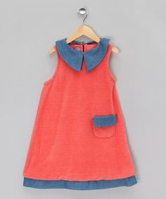 Coral Dress with Navy Kit - Girls by Juggle Angels