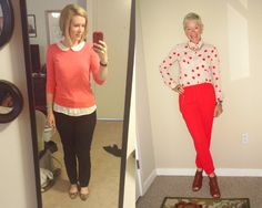 What We Wore: Coral - Two Take on Style
