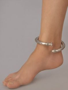 Antique Silver jewelry Vintage - Silver jewelry Hand Made Jewerly - - - - Silver jewelry Necklace Pearls Silver Anklets, Silver Ring, 925 Silver, Silver Payal, Anklet Designs, Silver Jewellery Indian, Fancy Jewellery, Anklet Jewelry, Feet Jewelry