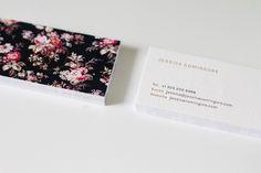Jessica Comingore's beautiful business cards.