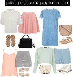 53607780241 Inspired spring outfits by zoella-clothes Topshop denim dress   Topshop  crop top   Topshop