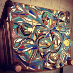 Old chair, scrap wood and leftover glass = #mosaic side table by Gari #art #mosaics #create | Flickr - Photo Sharing!