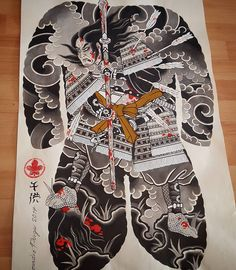 I incredibly fancy the different shades, lines, and linework. This is really a wonderful artwork if you want inspiration for a Japanese Tattoo Designs, Japanese Tattoo Art, Back Piece Tattoo, Back Tattoo, Tattoo Tradicional, Foo Dog Tattoo, Sketchy Tattoo, Naruto Tattoo, Traditional Japanese Tattoos