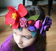 mmmcrafts: handmade gifts 2011: flower crown for Audrey