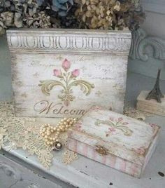 Home decor painted & stenciled with French stencils