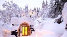 Pristine Eco POD Hotel is a Snow-capped Getaway Cabin in Switzerland | Inhabitat