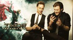 Tom Hiddleston and Chris Hemsworth are adorable (GIF)