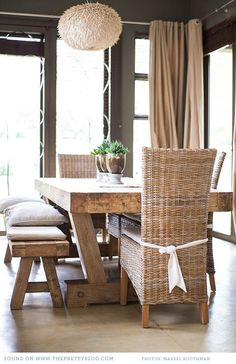Rustic Chic Dining Room Tables farmhouse table makeover and tips for stripping furniture | http