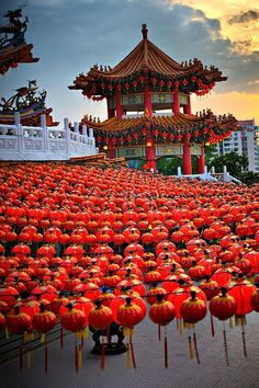 Lanterns at the Thean Hou Temple in Kuala Lumpur, Malaysia | Most Beautiful Pages
