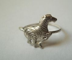 Zebra Ring Sterling Silver Ring Hammered Handforged by fifthheaven, $20.50