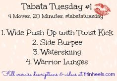 Fit In Heels: New Weekly Workout Series: Tabata Tuesdays!