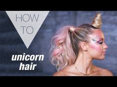 My Unicorn Hair Art made the Ellen DeGeneres Show! This is a step by step tutorial on how to create Unicorn Hair, the horn, mane & tail. Crazy Hair For Kids, Crazy Hair Day At School, Crazy Hair Days, Instagram Baddie, Unicorn Halloween, Halloween Hair, Halloween Makeup, Unicorn Party, Cindy Lou Who Costume