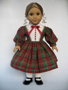 American Girl Doll Clothes Christmas Dress. $45.00, via Etsy.